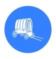 Cowboy wagon icon black Singe western icon from vector image vector image