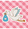 cute bashower cartoon vector image vector image