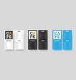design white black and blue menu format dl for vector image vector image