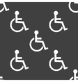 disabled web icon flat design Seamless pattern vector image