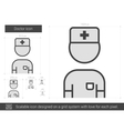 Doctor line icon vector image vector image
