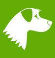 dog icon green vector image vector image