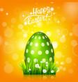 easter egg hunt orange yellow background april vector image vector image