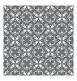 Elegant floral pattern with pearl grey flowers and vector image