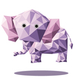 elephant polygon vector image vector image
