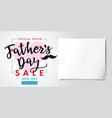 fathers day special offer sale banner vector image vector image