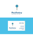 flat lollypop logo and visiting card template vector image