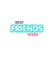 friendship day best friends forever poster banner vector image vector image