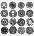 greek ornamental black and white round mandala vector image vector image