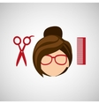 hairdressing salon design vector image vector image