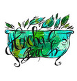 hand drawn herbal bath herbal vector image