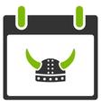 Horned Helmet Calendar Day Flat Icon vector image vector image