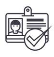 id passpermit line icon sign vector image vector image