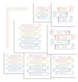 infographic numbered stripes options from three vector image