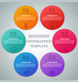 infographics circle templates 6 option parts vector image
