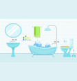 interior of bathroom with a toilet and accessories vector image