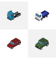 isometric automobile set of armored truck car vector image vector image
