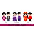 japan south korea china men and women in vector image vector image