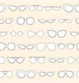 linear eyewear seamless pattern various trendy vector image vector image