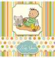 little baby boy play with his toys vector image vector image
