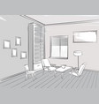living room interior reading place furniture vector image