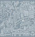london city seamless pattern roads houses river vector image vector image