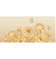 luxurious background with golden peony flowers vector image vector image