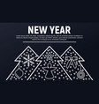 new year banner outline style vector image