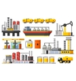 Oil Industry Elements Collection vector image vector image