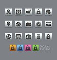 online store icons - satinbox series vector image vector image