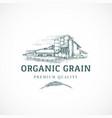 organic grain elevator abstract sign vector image vector image
