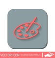 Palette with brush Symbol of art Icon painting vector image vector image