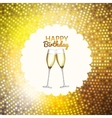 Party Background with Flags and Glasses of vector image vector image