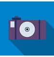 Professional photocamera symbol vector image vector image