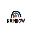 rainbow abstract shape logo icon vector image vector image