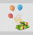 realistic air flying colorful balloons with vector image vector image
