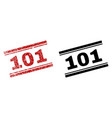 scratched textured and clean 101 stamp prints vector image vector image