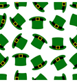 Seamless hats background vector image vector image