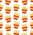 seamless pattern french fries boxes takeaway vector image