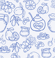 Seamless pattern with spices and berries vector image vector image