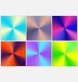 set of colorful gradients vector image vector image