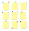 set of yellow stickers vector image vector image