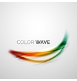 Shiny color wave vector image vector image