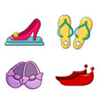 shoes icon set cartoon style vector image