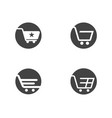 shop store basket icon template vector image vector image