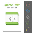 simple line stroked stretch exercise mat vector image vector image