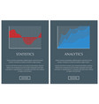 statistics and analytics in form of graphics set vector image vector image