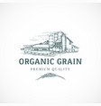 the organic grain elevator abstract sign vector image