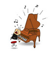 the pianist vector image