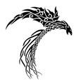 tribal tattoo art with black fantasy bird vector image vector image